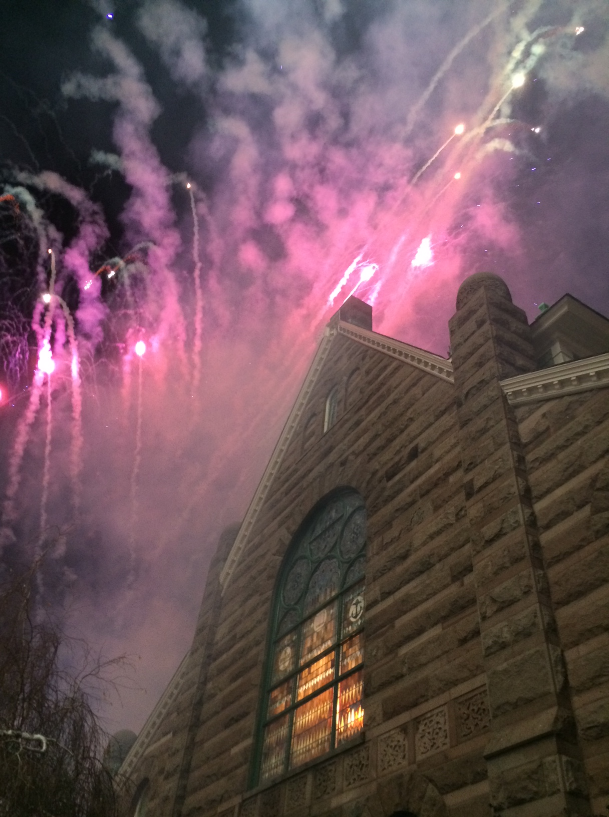 church fireworks